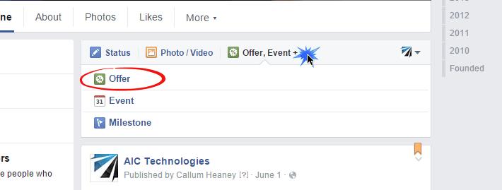 facebook offering